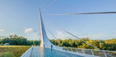 The Sundial Bridge in Redding, California.