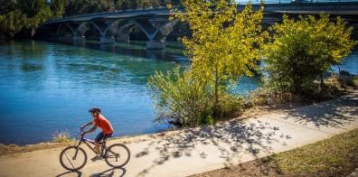 Biking River Trail