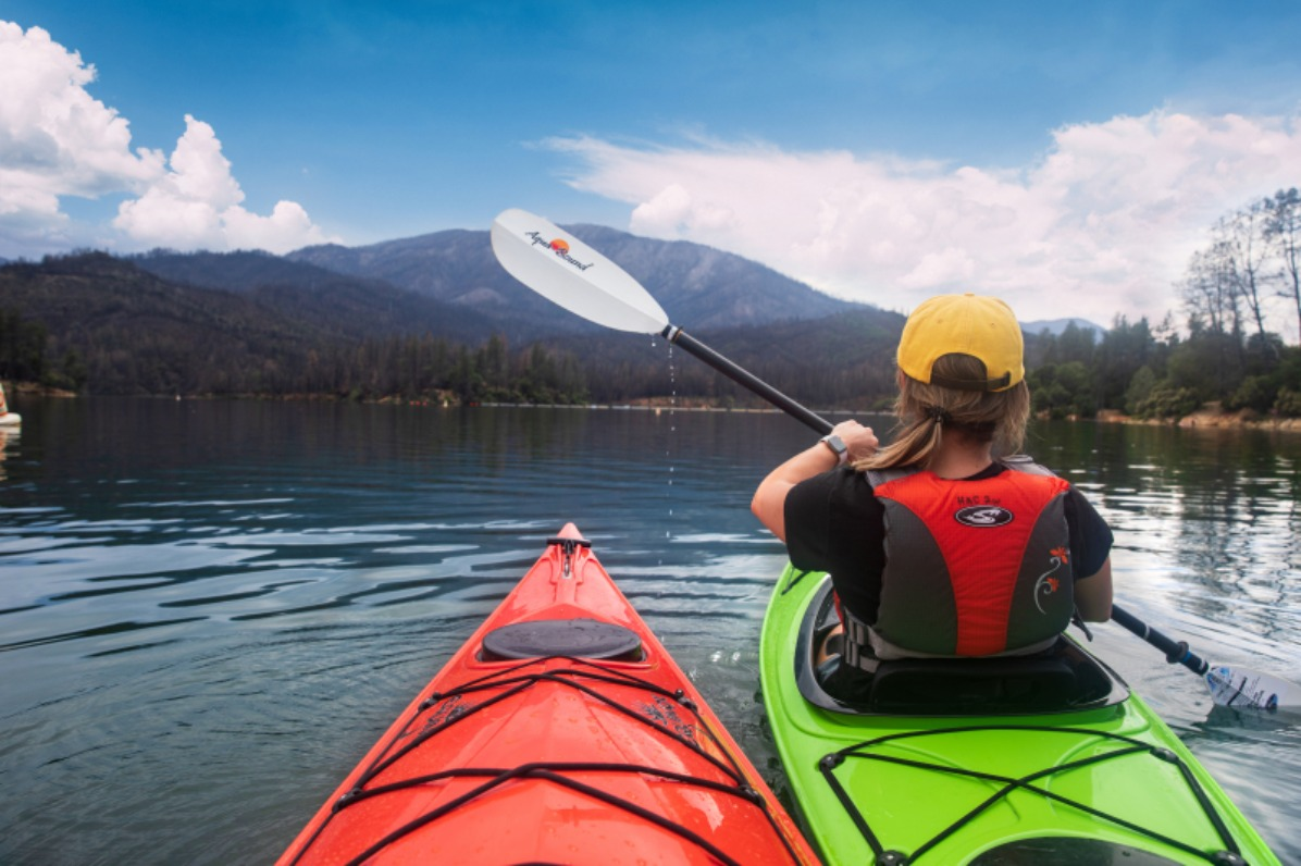 Kayaking at Whiskeytown National Recreation Area