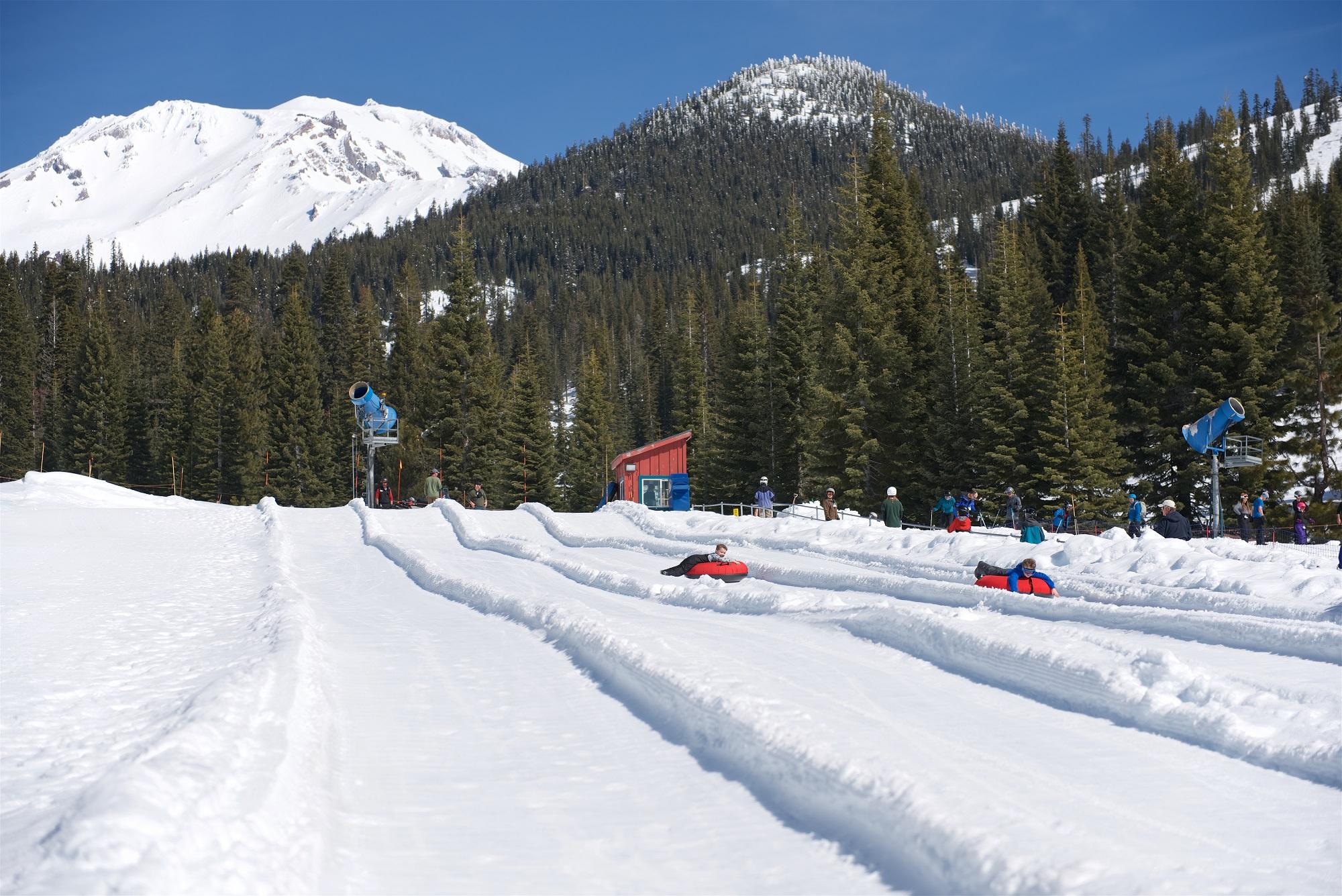 Tubing at Mt. Shasta Ski Park