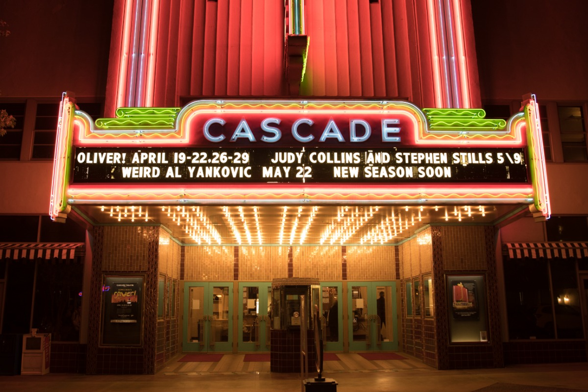 Exterior of the Cascade Theatre