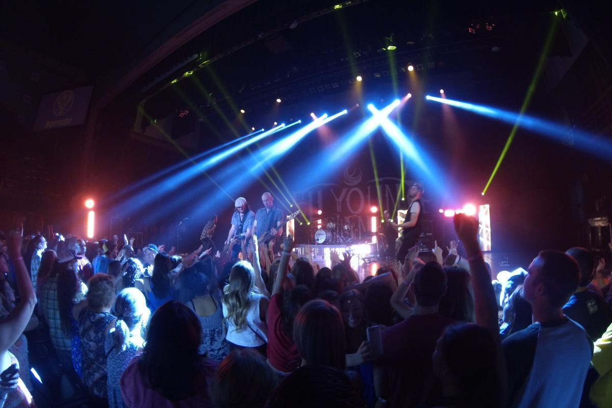 A concert at the Redding Civic Auditorium.