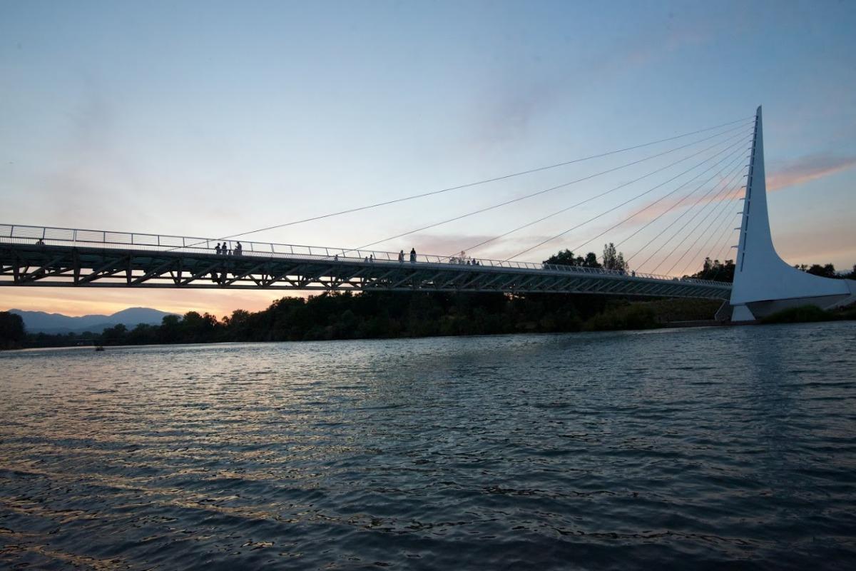 The Sundial Bridge in Redding, CA.