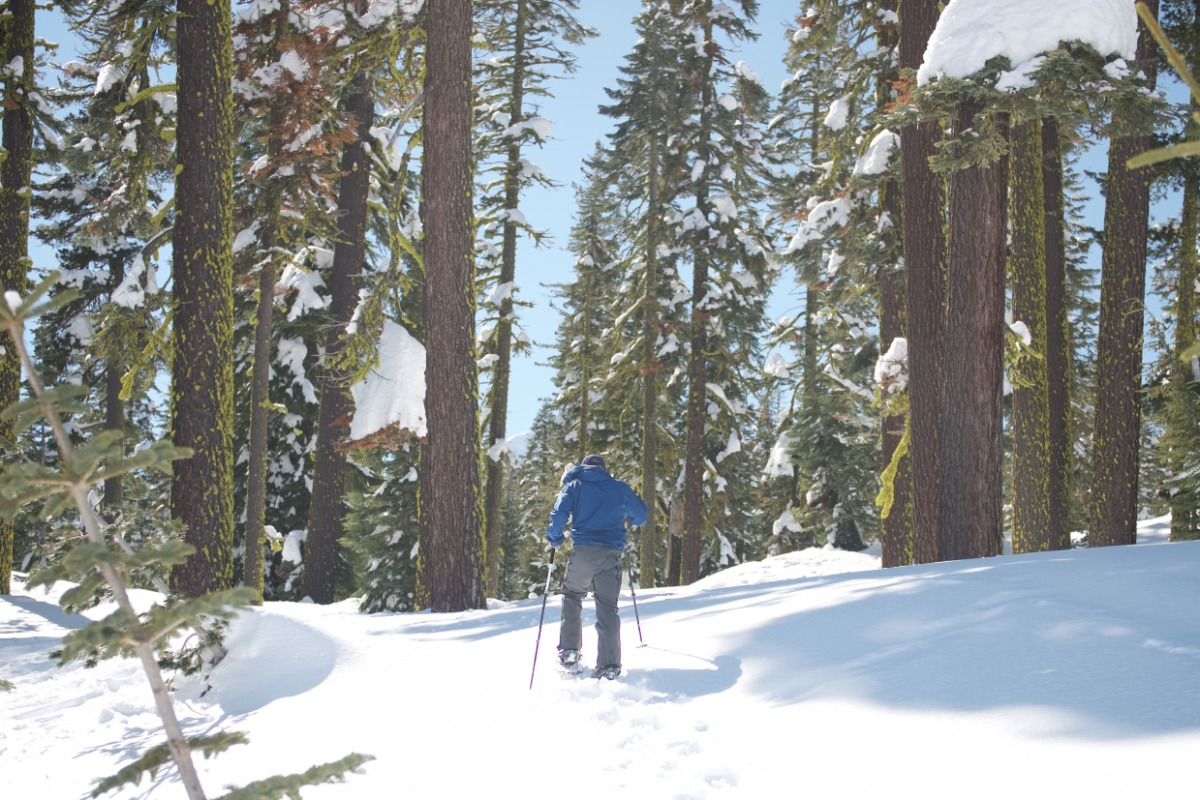 snowshoeing in Lassen Volcanic National Park
