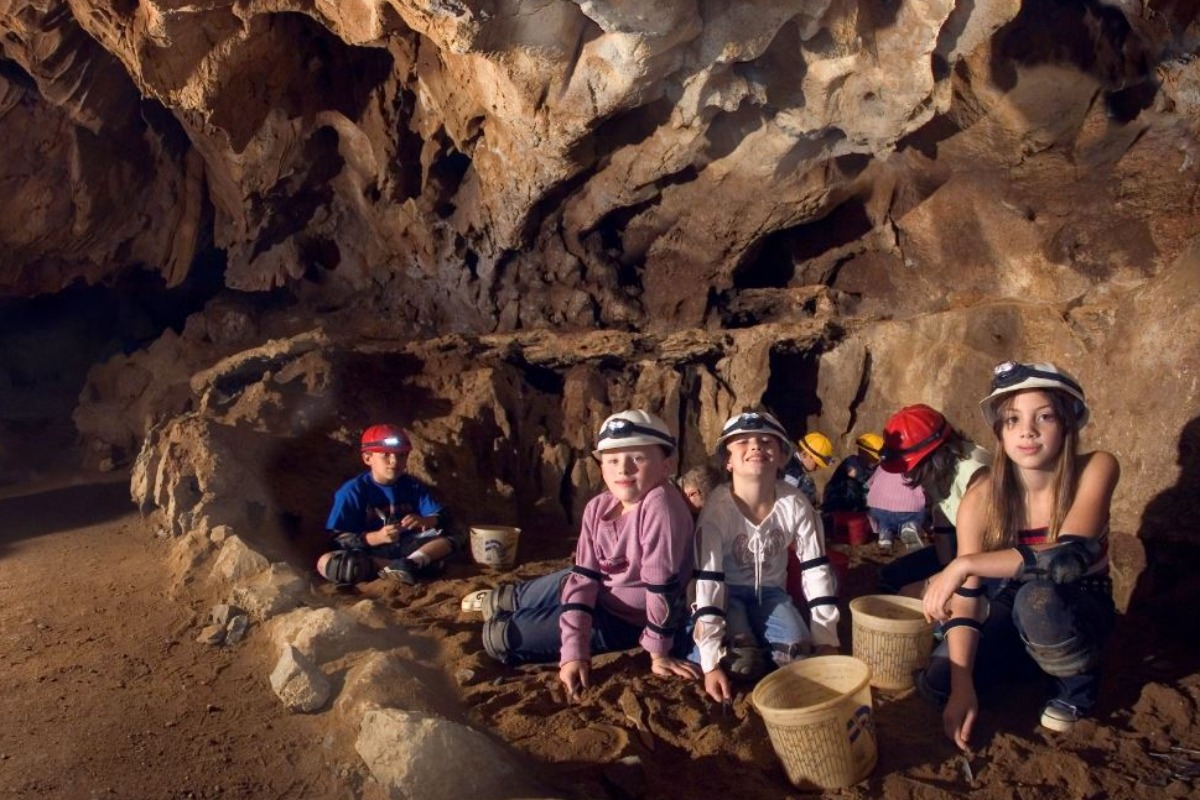 Children at Lake Shasta Caverns National Natural Landmark.