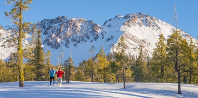 Snowshoeing at Lassen Volcanic National Park.