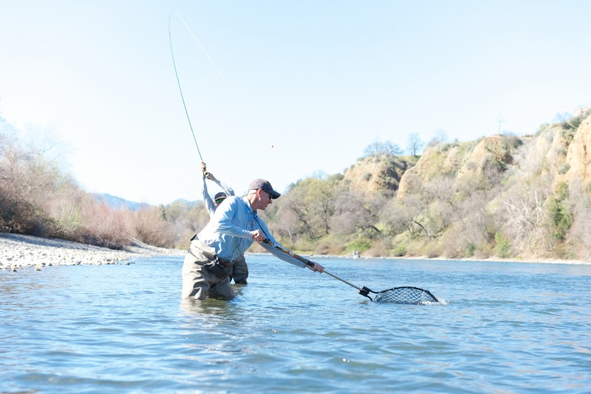 Trout fishing with The Fly Shop on the Lower Sacramento River in Redding, California.