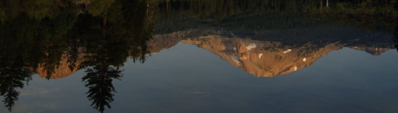 Manzanita Lake in Lassen Volcanic National Park.